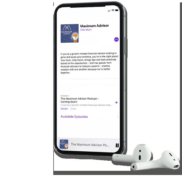 Maximum Advisor podcast on iphone